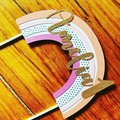 Rainbow - boho - modern - birthday - cake topper - first
