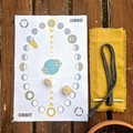 ORBIT   two player travel game, organic cotton canvas, wooden dice