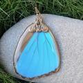 Blue Morpho Wing Necklace
