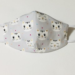 READY TO POST 3 layer Mask Kitty Cats Face Cover Reusable Cloth Mask