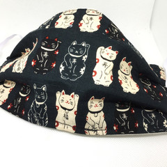 Fabric Face mask, with Japanese Cat fabric