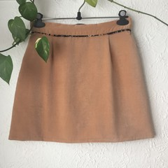 Vintage Honey Velvet Skirt - Size 12-14
