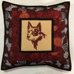 Australiana cushion cover - RED DOG