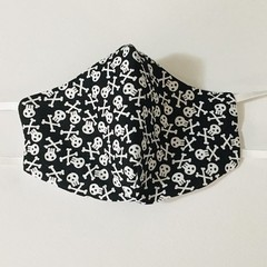 READY TO POST 3 layer Mask Skulls Face Cover Reusable Cloth Mask