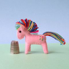Miniature Felt Pony, felt horse, my little pony, animal softie, stuffed toy