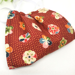 Fabric Face mask, with Japanese flower fabric