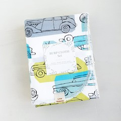 Burp Cloth Set + Newborn + Baby Gift + Neutral