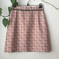 Pretty Pink Retro A-Line Skirt - size 12-14