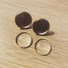 Custom Glass Dome Earrings
