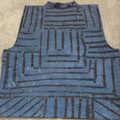 Mens' Denim Blue/ Black Shibori Vest