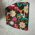 Lined top zipper pouch / make -up bag