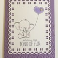 Kids Birthday Handmade Card - Elephant