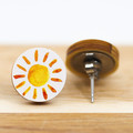 12mm Timber Stud Earrings - Yellow Sun - Eco Gift Ideas