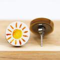12mm Timber Stud Earrings - Yellow Sun - Eco Gift Ideas