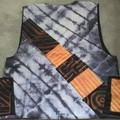 Terracotta / Black/ Pastel Linen Men's Vest