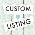 Custom Order for Justine