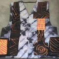 Terracotta / Black/ Pastel Linen Men's Vest