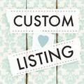 Custom Order for Laura