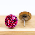 12mm Timber Stud Earrings - Pink Peonies - Eco Gift Ideas