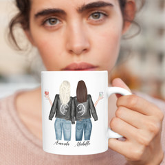 Best Friends Sisters Besties Personalised Ceramic Coffee Tea Mug Cup - CM016