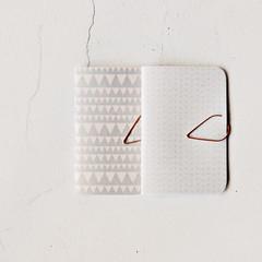 Pastel Mini Books {2} Mini Gray  Grids | Mini Books | Mini Purse Notebook