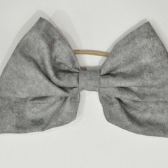 Marbled Grey Bow Ear Saver for Ear Loop Face Masks