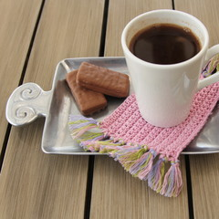 Crochet mug rugs/coasters