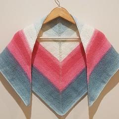 Unicorn triangle shawl