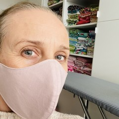 Cotton Face Mask ~ Dusty Pink ~ 3 layers