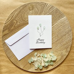 Sea glass birthday card