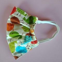Bird print reusable cotton face mask