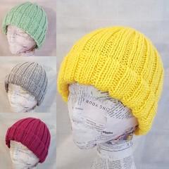 Hand knit super soft beanies