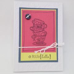 """Blank Card - """"A Little Hello"""""""