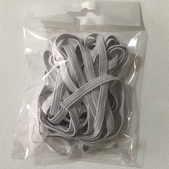 Braided elastic 6mm white 2.74m