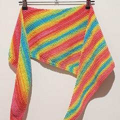 Rainbow scarf asymmetrical