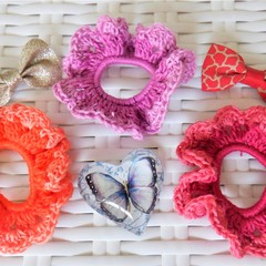 Set of 3 'Lacy' Hair Bands/Scrunchies