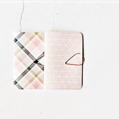 Pastel Mini Books {2} Pink Plaids | Mini Books | Mini Purse Notebook