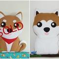 Akita Inu Pillow Plush Dog Softie Home Nursery Decor Birthday Christmas Gift