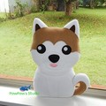 Akita Inu Pillow Plush Dog Softie Home Nursery Decor Birthday Christmas Gift