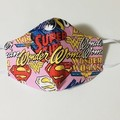 READY TO POST 3 layer Mask Supergirl WonderWoman Face Cover Reusable Cloth Mask