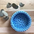 MEDIUM | crochet basket | essential oils | storage basket | BLUE