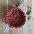 LARGE | crochet baskets | essential oil storage | TERRACOTTA