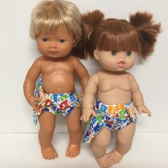 Dolls napppies to fit 38cm Dolls such as Miniland and Minikane and Cabbage Patch