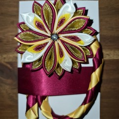 Kanzashi Flower Bookmarks with Light