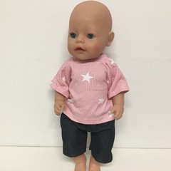 Dolls Peasant Top and  Tee to fit Baby Born and Cabbage Patch