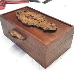 Keepsake | Jewellery | valet | Wood Box In Rosewood And Tallowwood Burl