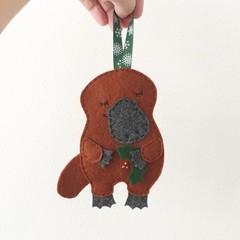 Sleepy Platypus Christmas decoration, Australian animal, Aussie, souvenir