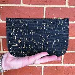 Cork Pouch - Black with gold flecks