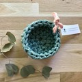 SMALL | crochet basket | essential oils | storage basket | GREEN MARLE