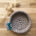 LARGE | crochet baskets | essential oil storage | LATTE